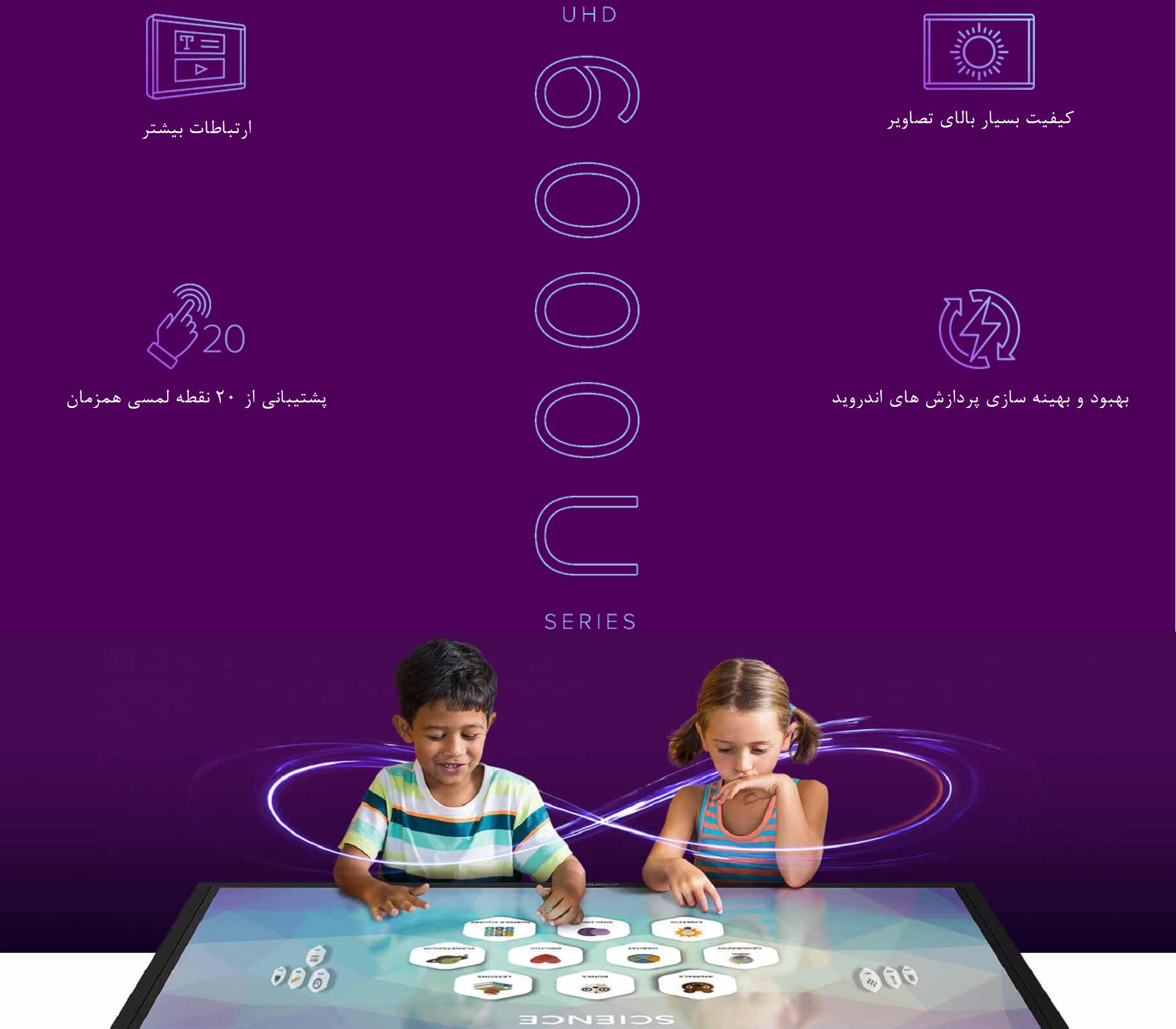 امکان بازی کودکان با نمایشگر های لمسی سی تاچ