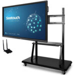 mobile stand for touch monitors seetouch panels