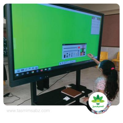 مدارس هوشمند با نمایشگر های سی تاچ
